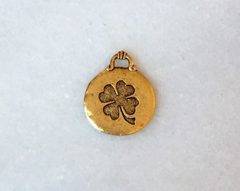 New! GOLD Lucky Clover Charm
