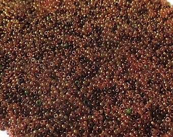 Teeny Tiny Seed Beads Size 18 +/- SeedBeads, Copper Bronze Dark Brown, Extra Small Beads, Glass Seed Beads  1 Ounce  SP777