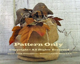 Primitive Bag of Crows Pattern, Primitive Animals, Fall Decor E-Patterns