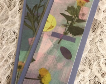 Blue Flower Bookmarks - Set of 2