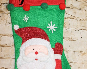 Personalized Santa Stocking - Font Style Options