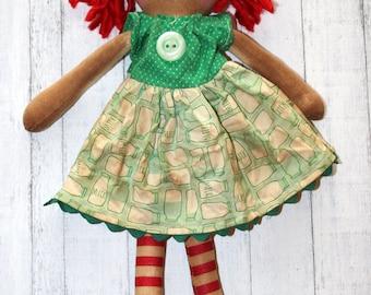Vintage Milk Jug Annie - Primitive Raggedy Ann Dolls (HAFAIR)