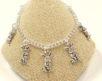 Girls Rabbit Bracelet Girls Easter Bracelet  Easter Rabbit Bracelet  Girls Easter Gift  Girls Jewelry Rabbit Jewelry Bunny Rabbit G38