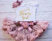 Flower Girl Shirt, Personalized Flower Girl Outfit, Flower Girl Rehearsal Outfit, Bridal Crew Shirt, Flower Girl Gift, Wedding Rehearsal