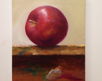 Still Life Oil Painting titled 'Apple'