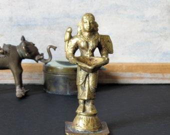 Vintage brass incense burner, Art Deco Egyptian style figurine
