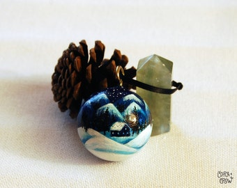 Hand painted Wood Ornament - Winter