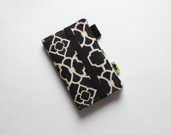 iPhone wallet, phone purse phone clutch, black and white wallet phone wristlet iPhone 7 wallet iPhone 6 wallet TLC Pouches, samsung galaxy