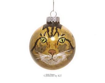 Custom Cat Portrait Ornament MADE TO ORDER Pet Portrait Cat Lover Gift Kitty Cat Birthday Pet Memorial Pet Gift Pet Loss Gift Cat Memorial