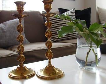 Brass Candle Sticks (2)