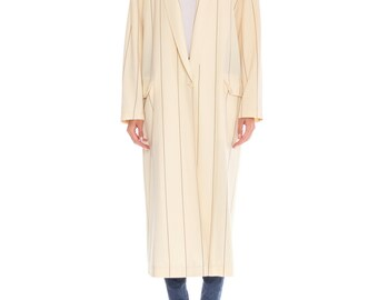 1990s Oversize Striped Duster Coat Size: XL