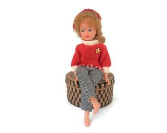"1965 Vintage Horsman 12"" PATTY DUKE Poseable Vinyl Doll w/Original Outfit Tammy Clone"