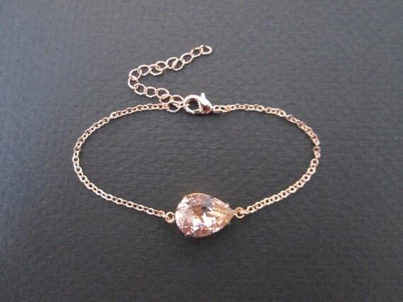 rose gold swarovski crystal bracelet rose gold bracelet rose. Black Bedroom Furniture Sets. Home Design Ideas