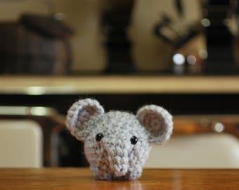 Crochet Chibi Elephant - ENDANGERED
