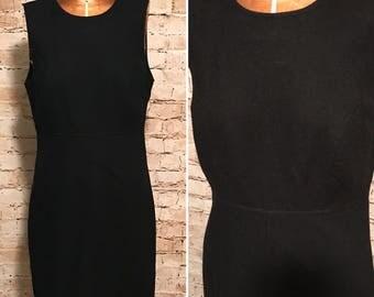 Vintage 1990s Gap Wool Blend Dress // 90s Little black Dress // size small S