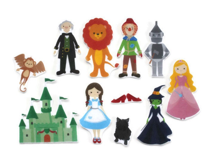 The Wonderful Wizard of Oz Felt Story Set - Wizard of Oz Toddler Toy, Montessori Pretend Play Toy, Quiet Time Kids Activity, Felt Board Set