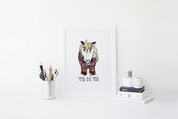 Cute Home Office Print Home Decor Shetland Pony Scotland
