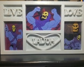 SALE! Live Laugh Love Skeletor Photo Picture Frame - Masters of the Universe - Wall Hang - Meme