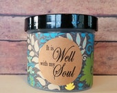 Daily Bible Devotions, Christian Scripture Jar, Graduation gift, Get Well, Congratulations, Encourage, It is Well with my Soul -Blooming Ivy