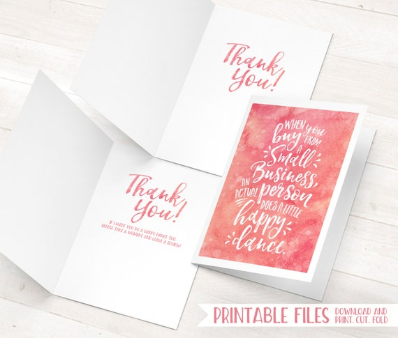 Small business cards printable thank you cards etsy thank you card il570xn colourmoves Choice Image