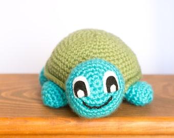 Turtle Stuffed Animal - Ready to Ship - Turtle Plush - Crochet Turtle