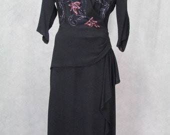 1940s Dress Sequined Plus Size Rockabilly Dance Dress