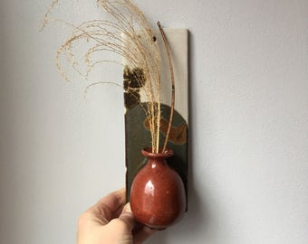 Vintage Wall Pocket - Ceramic Wall Pocket - Wall Vase