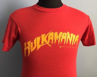 80s Vintage Hulkamania Hulk Hogan WWF WWE T-Shirt - Small