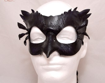 Mormont's Raven Leather Eyemask Cosplay Mask, Game of Thrones Inspired