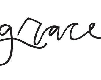 Grace // Temporary Tattoo