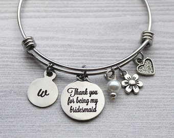 Thank-You For Being My Bridesmaid Bracelet, Bridesmaid Gifts, Gifts for Bridesmaids, Wedding Gifts, Wedding Bridesmaid Gifts, Bridesmaids