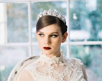 Bridal Tiara Wedding Tiara MERCY, Swarovski Bridal Tiara, Crystal Wedding Crown, Rhinestone Tiara, Wedding Tiara Crown As Seen on Brides.com