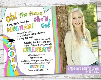 Oh The Places Youll Go graduation invitation