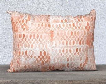 Coral Pillow, 14x20, Coral Throw Pillow, Coral Home Decor, Coral Accent Pillow,  Coral Bedding, Coral Pillow Cover, Coral Lumbar Pillow