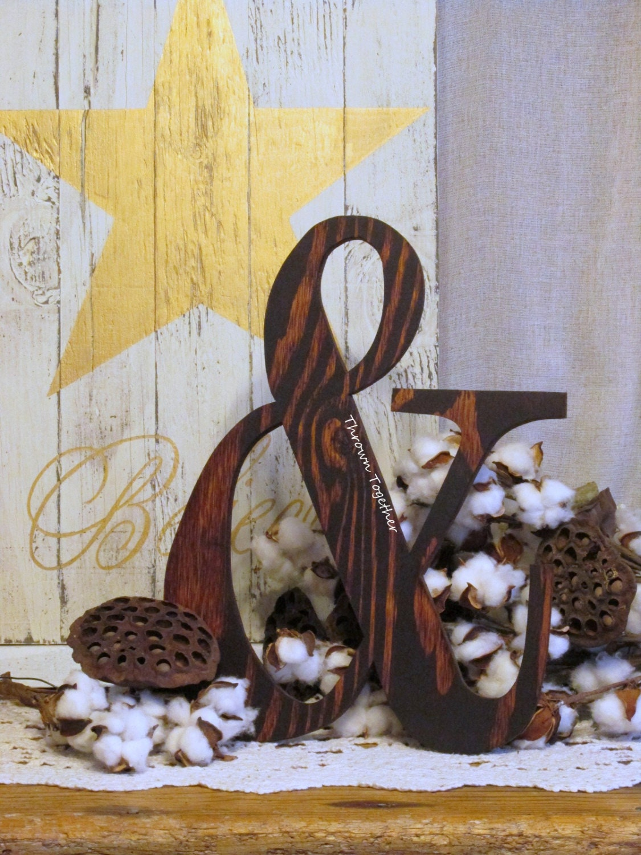 Handmade Rustic Wall Decor : Ampersand sign wood wall decor rustic
