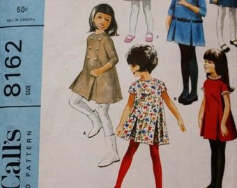 1960s Girls' Dress Pattern /Simplicity 8162/ Size 6 /Vintage Sewing Pattern