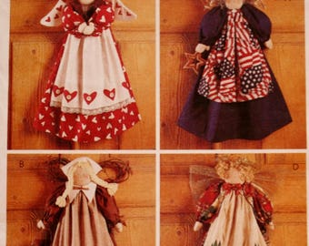 McCalls 7810 Crafts Sewing Pattern /22 Inch Angel Dolls For Any Season /UNCUT