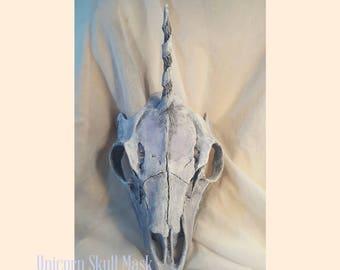 Unicorn Skull Mask with 4 Horn Style Options - Bone Mask- Made to Order