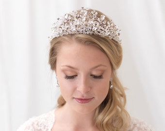 Swarovski Crystal Tiara, Crystal Bridal Crown, Rhinestone Wedding Tiara, Bridal Headpiece, Wedding Headpiece, Bridal Hair Accessory~TI-3299