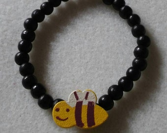 Bumble bee bracelet/strethcy/child/adult