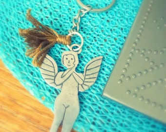 flying angel wings key holder
