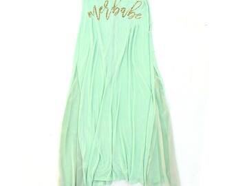 Mermaid Skirt. Boho Maxi Skirt Dress. Mint Maxi Skirt. Little Mermaid. Beach Wear. Mermaid. Merbabe. Honeymoon Vibes. Womens Skirt. Beach.