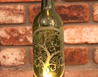 Lantern Life of Tree Green (Stand & Candle Included) Tree of Life, Yoga, Eco Friendly, Wine, Lantern, Candle, Lighting