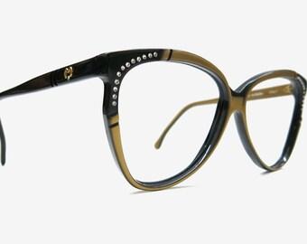 Mila Schön Brillengestell Vintage / 80s Fashion Accessoires | Italy Brille eyeglass frame | vintage occhiali