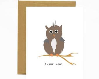Thank Hoo Greeting Card