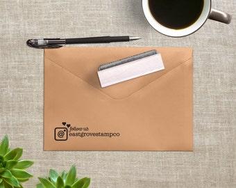 Instagram Stamp - Follow Us Stamp - Maker Stamp - Business Stamp - Follow Me Stamp
