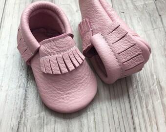 Blush Baby Moccasins...pink baby moccasins