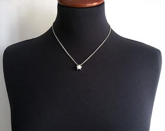 Star Necklace, silver star Pendant, Dainty necklaces, solid silver star pendant, star pendant necklace, tiny star pendant