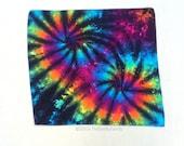 Inverted Rainbow Tie Dye Bandana Double Spiral