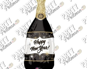 """36"""" New Years Eve Champagne Bottle Foil Balloon for NYE Party Decorations"""